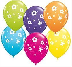 Qualatex Balloons Daisies & Butterflies 28cm