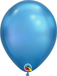"Qualatex Balloons 07"" RND Chrome Blue 100CT"
