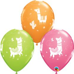 Qualatex Balloons Llamas Asst 28cm