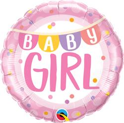 Qualatex Foil Baby Girl Banner 45cm