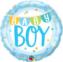 Qualatex Foil Baby Boy Banner 45cm