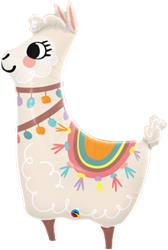 Lovable Llama 88cm Qualatex Foil