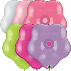 Qualatex Balloons Geo Blossom Flower Assortment 40cm 50ct