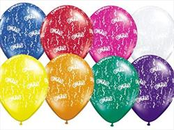 Qualatex Balloons Congrats Around Jewel  Tone Asst. 28cm