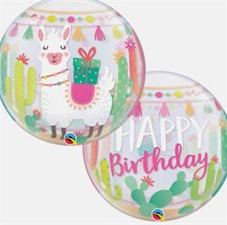 Bubble Birthday Llama 55cm