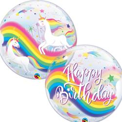 Bubble Birthday Rainbow Uncorn 55cm