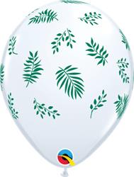 Qualatex Balloons Tropical Greenery White 28cm