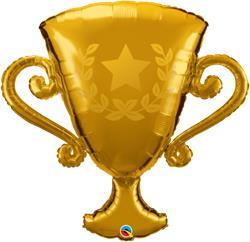 Golden Trophy Foil Helium shape 93cm