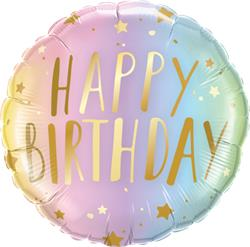 Qualatex Balloons Birthday Metallic Ombre Dots 45cm