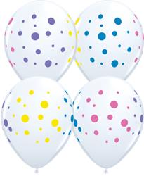 Qualatex Balloons Colorful Dots 28cm