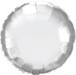 Qualatex Round Foil Chrome Silver 45cm Unpackaged