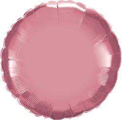 Qualatex Round Foil Chrome Mauve 45cm Unpackaged