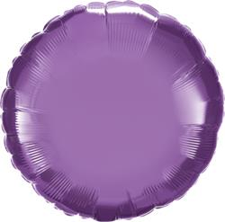 Qualatex Round Foil Chrome Purple 45cm Unpackaged