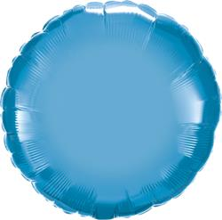 Qualatex Round Foil Chrome Blue 45cm Unpackaged