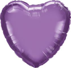 Qualatex Heart Foil Chrome Purple 45cm Unpackaged
