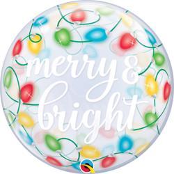 Merry & Bright Lights Bubble 55cm