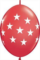 Quicklink Balloons Big Stars Red 30cm Qualatex
