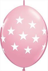 Quicklink Balloons Big Stars Pink 30cm Qualatex