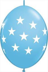 Quicklink Balloons Big Stars Pale Blue 30cm Qualatex