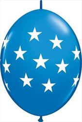 Quicklink Balloons Big Stars Dark Blue 30cm Qualatex