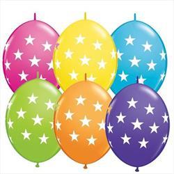 Quicklink Balloons Big Stars Tropical Asst 30cm Qualatex