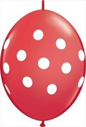 Quicklink Balloons Big Polka Dots Red 30cm Qualatex