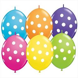 Quicklink Balloons Big Polka Dots Tropical Asst 30cm Qualatex
