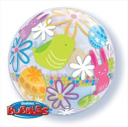 Bunnies and Flowers Bubble 55cm