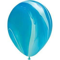 Qualatex Balloons Agate Blue Rainbow 28cm