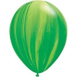 Qualatex Balloons Agate Green Rainbow 28cm