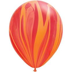 Qualatex Balloons Agate Red Orange Rainbow 28cm