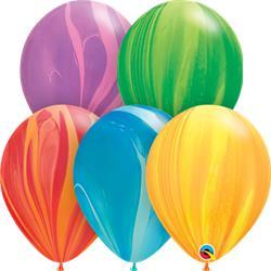 Qualatex Balloons Agate Rainbow Assorted 28cm