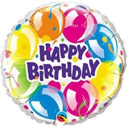 Qualatex Balloons Birthday Sparkling 23cm