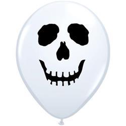 Skull Face White 12cm