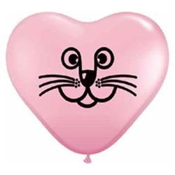 Cat Face pink 15cm