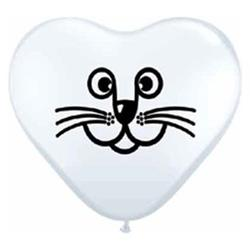 Cat Face white 15cm