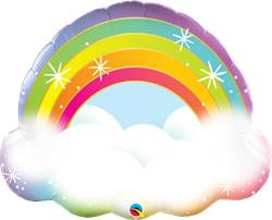 "32"" Shape Foil Rainbow - Each (pkgd.)"