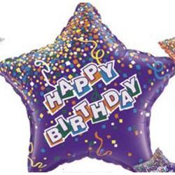 "Star Birthday Purple 36"""