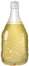 Golden Bubbly Wine Bottle 99cm