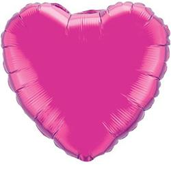 Heart Foil Magenta 45cm Unpackaged