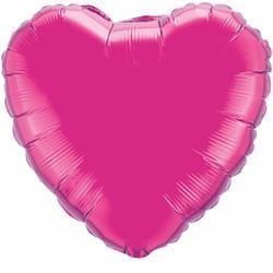 Qualatex Balloons 23cm Heart Foil Magenta