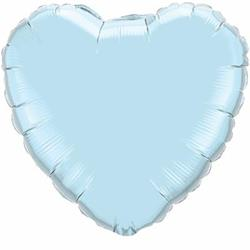 Qualatex Balloons Heart Foil Pearl Light Blue 45cm Unpackaged