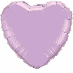 Qualatex Balloons Heart Foil Pearl Lavender 45cm   Unpackaged