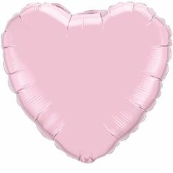 Qualatex Balloons Heart Foil Pearl Pink 45cm Unpackaged