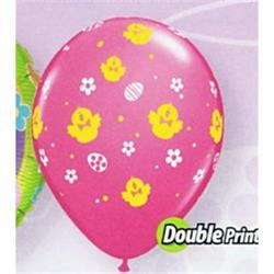 Qualatex Balloons Chicken & Eggs Double Print 28cm