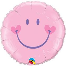 Qualatex Balloons Sweet Smiley Face - Pink 45cm