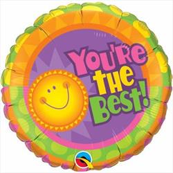 Qualatex Balloons You're The Best! Radiant Sun 45cm