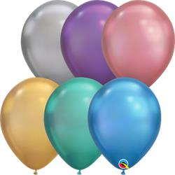 Qualatex Balloons Chrome Assorted 28cm
