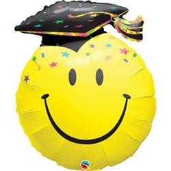 Smile Face Party Grad Mini Shape 14""
