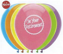 On Your Retirement Mix Latex 30cm 2 sided print Single Pack